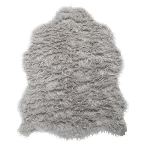Tesco Rugs Faux Sheepskin Rug Single Grey