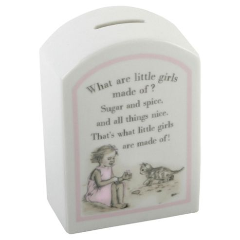 Ceramic Money Box - What Are Little Girls Made Of?