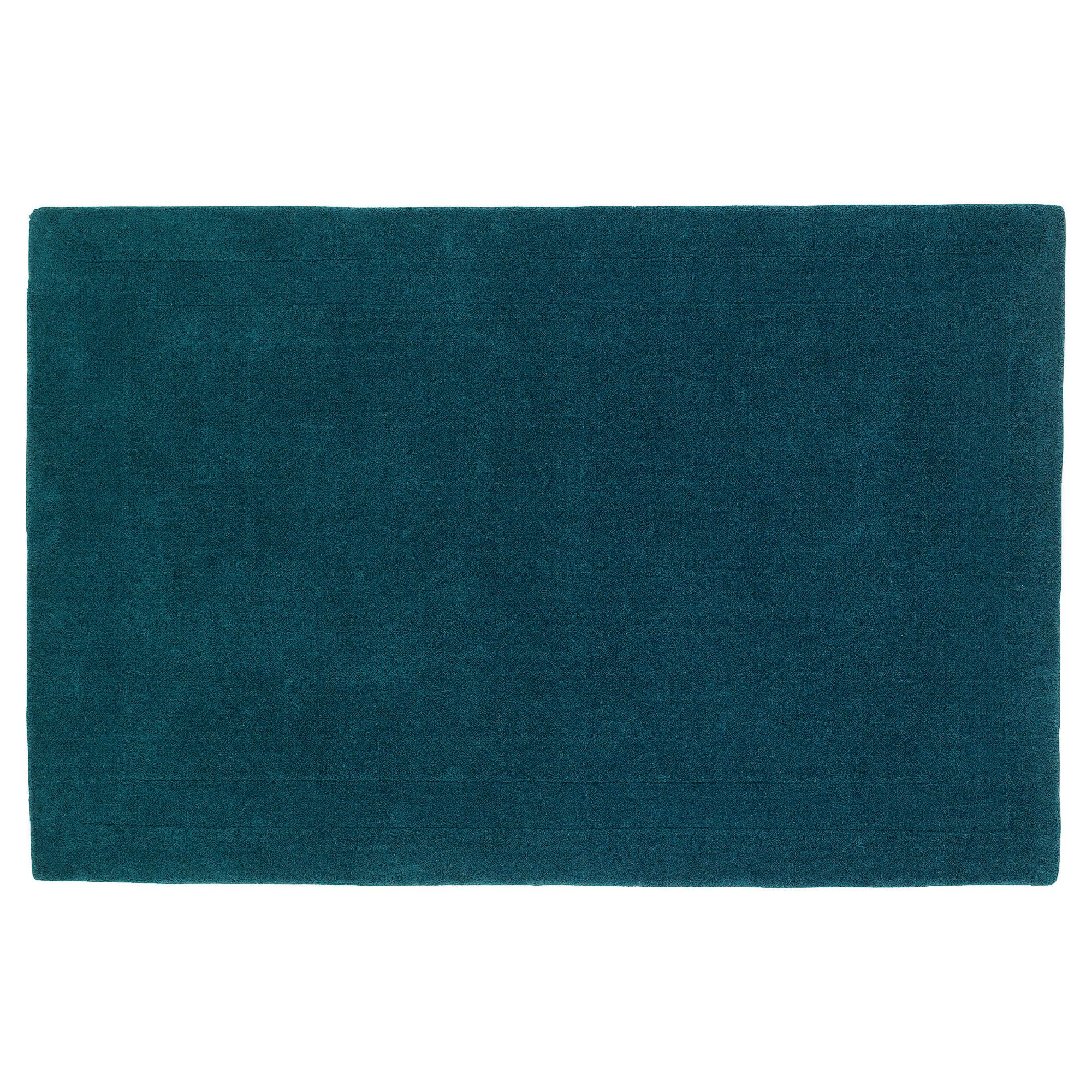 Tesco Rugs Plain Wool Rug Teal 160x230cm