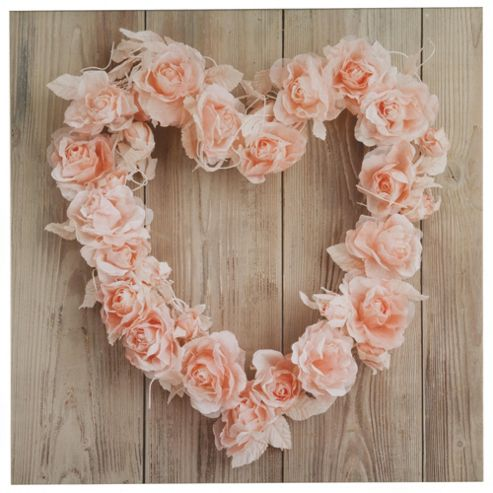 Rose Heart Pink Canvas