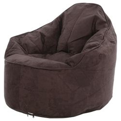 Kaikoo Faux Suede Palm Chair, Chocolate