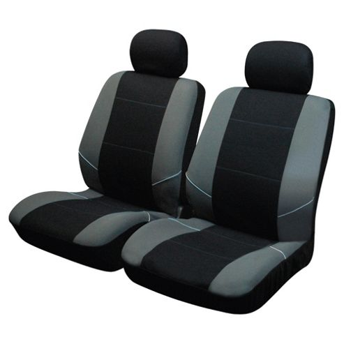 Black and Grey Seat Covers front pair SS3633