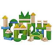 Brio 50 Piece Blocks Coloured, wooden toy