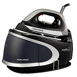 Morphy Richards 42221 Ceramic Plate Steam Generator Iron, Black and Silver