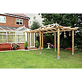Extended Ashcott Pergola - Includes Metcrete for fixing posts into the ground
