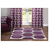 Tesco Rugs Retro Rug Plum 150X240Cm