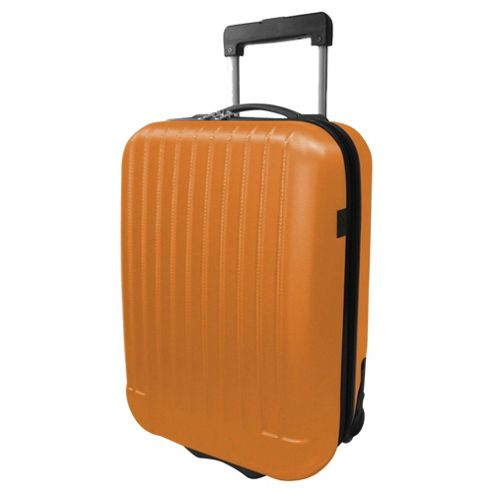 Tesco 2-Wheel Hard Shell Suitcase, Orange Medium