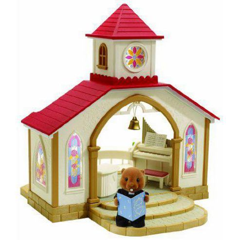 Sylvanian Families Wedding Chapel with Vicar