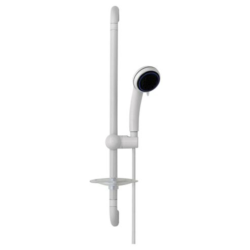 Croydex Showerhead and Riser Set White
