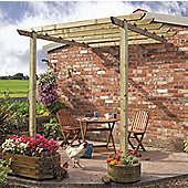 Cranborne Patio Pergola with Metcrete Post Fixings