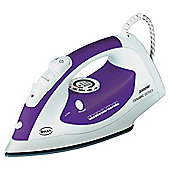 Swan SI3030N scratch resistant Iron with Ceramic Plate - White/Purple