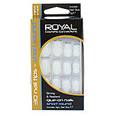 Royal 30 Glue-On Short Round Nails