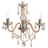 Tesco Lighting Marie Therese 3 Arm Chandelier - Mink