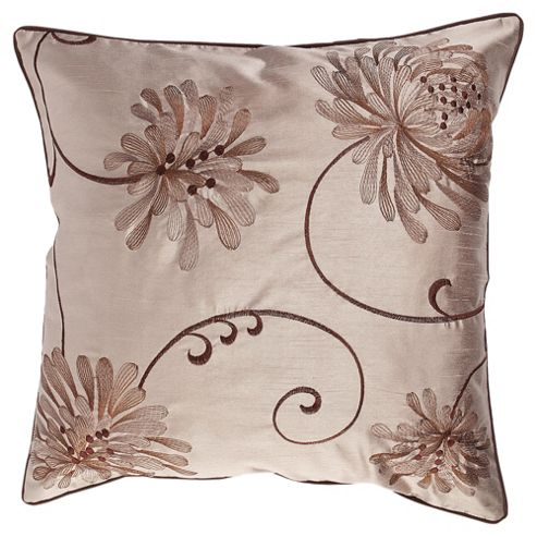 Tesco Cushions Chrysanthemum Cushion, Natural