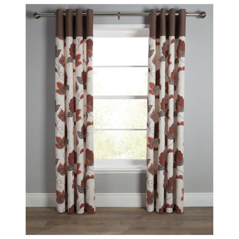 Tesco Marrakesh Print Lined Eyelet Curtains W163xL137cm (64x54