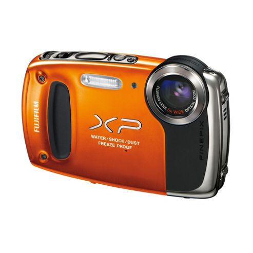 Fujifilm FinePix XP50 Digital Camera, Orange, 14MP, 5x Optical Zoom, 2.7 inch LCD Screen