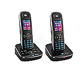 BT Aura 1500 Digital Cordless Twin Phone with Answering Machine - Black