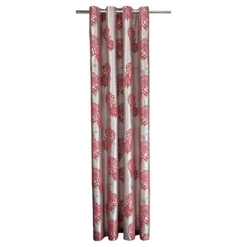 Tesco Amelia Flock Lined Eyelet Curtains W163xL137cm (64x54