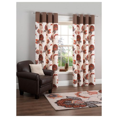 Tesco Marrakesh Print Eyelet Curtains W163xL183cm (64x72