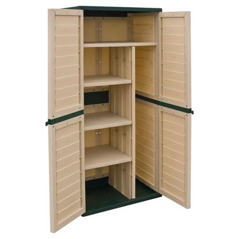 Rowlinson Plastic Tall Garden Utility Cupboard - JR2