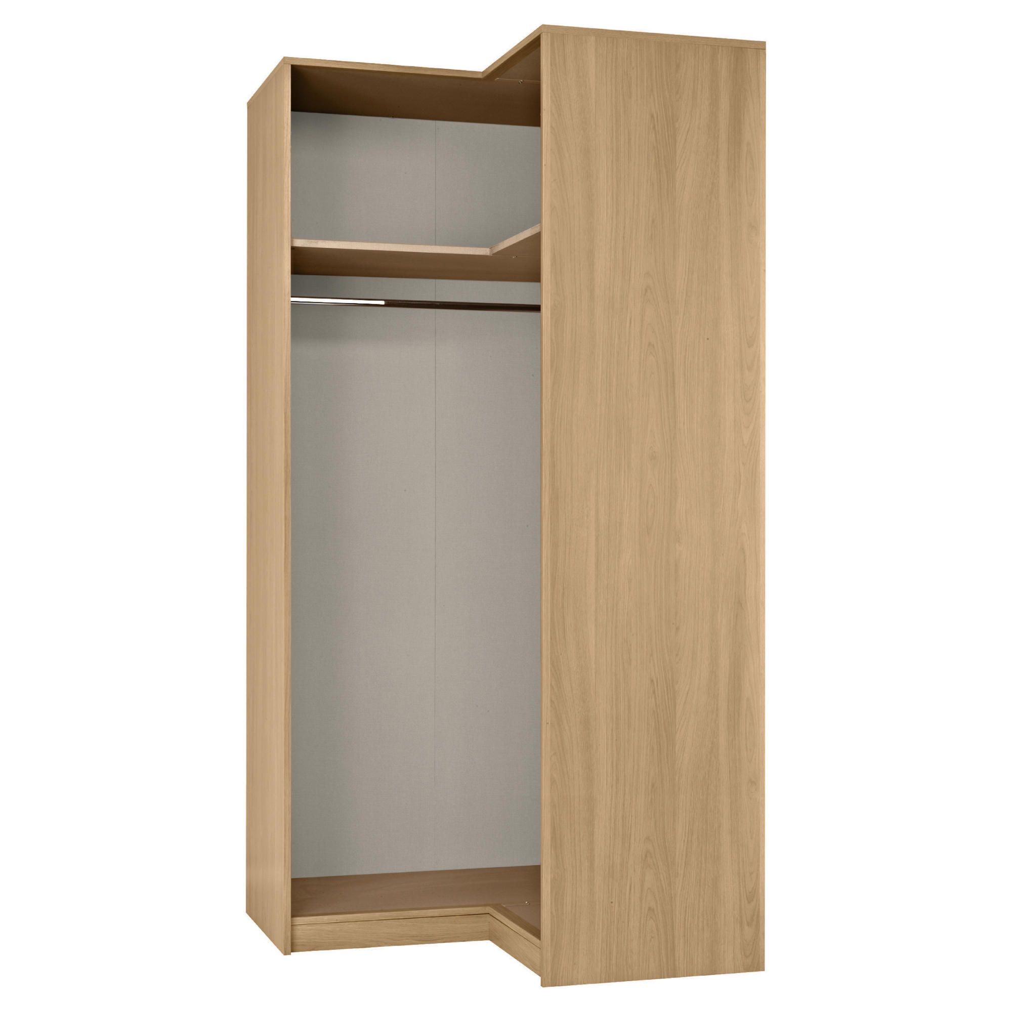 Modular Corner Wardrobe Frame, Oak-Effect at Tesco Direct