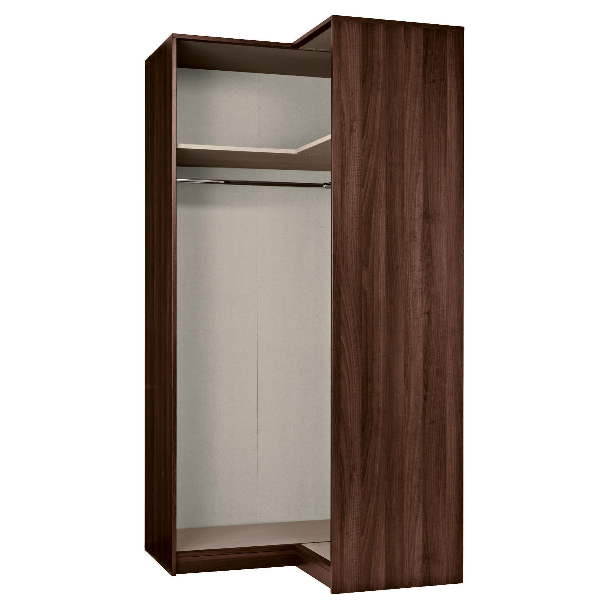 Modular Corner Wardrobe Frame, Walnut-Effect at Tesco Direct