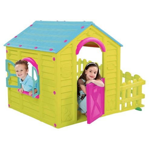 Keter My Garden Playhouse, Lime Green/Blue/Pink