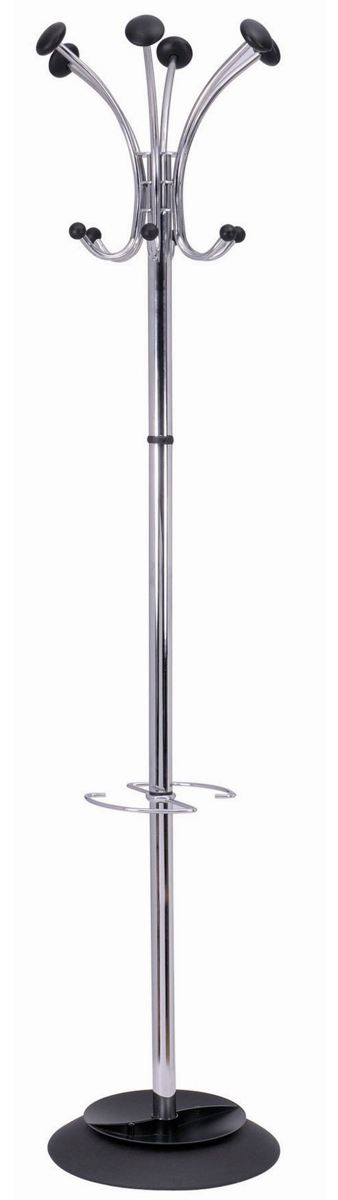 12 Hook Coatstand - Chrome