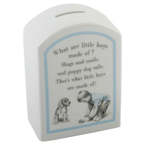Ceramic What Are Little Boys Made Off - Money Box
