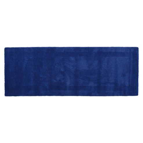 Tesco Plain Wool Runner, Blue 70x200cm