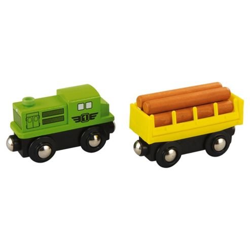 Carousel Freight Train Wooden Toy