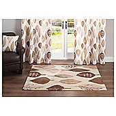 Tesco Rugs Watercolour Leaf Rug Natural 150X240Cm