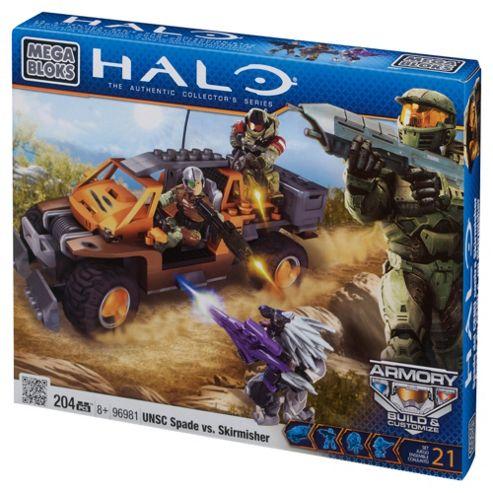 Mega Bloks Halo UNSC Spade vs Skirmisher