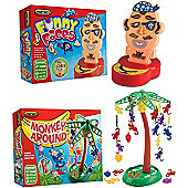 Spears Games Funny Faces & Tumbling Chimps Board Game