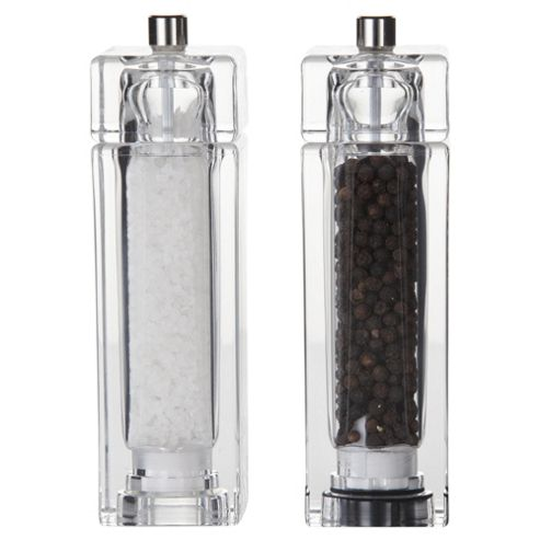 T&G Woodware Square Salt and Pepper Mill Gift Set