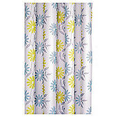 Croydex Scribble Flower Textile Shower Curtain