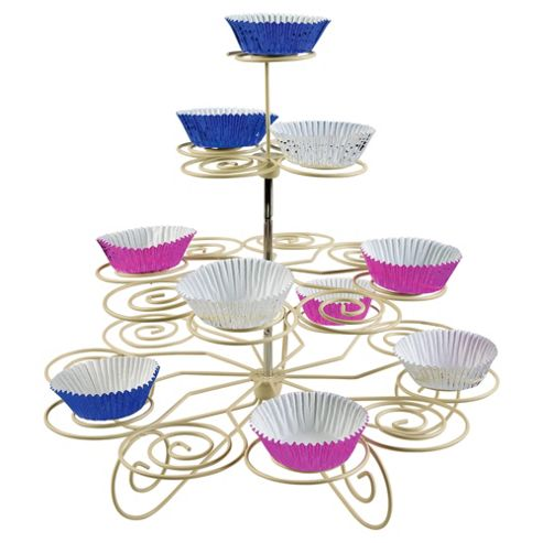 Tala Cupcake Stand with 32 Assorted Colour Foil Baking Cases