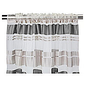 "Tesco Milan Stripe Voile Panel W137xL229cm (54x90""), Charcoal"