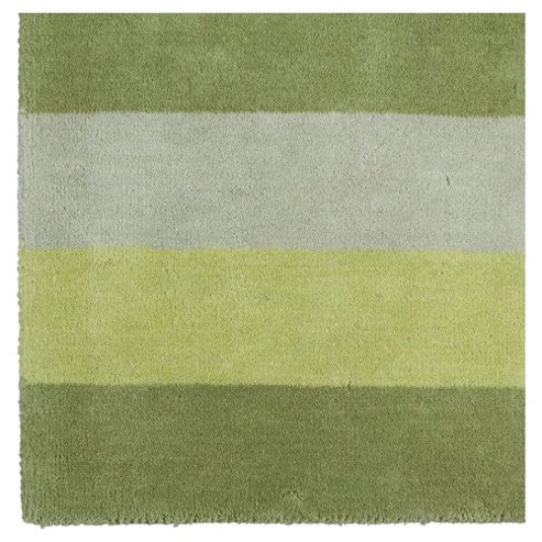 Tesco Vertical Stripe Runner, Green 67x200cm