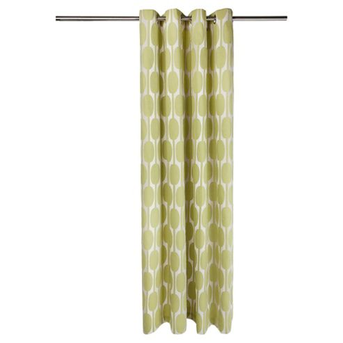 Tesco Retro Print Eyelet Unlined Curtains W168xL183cm (66x72
