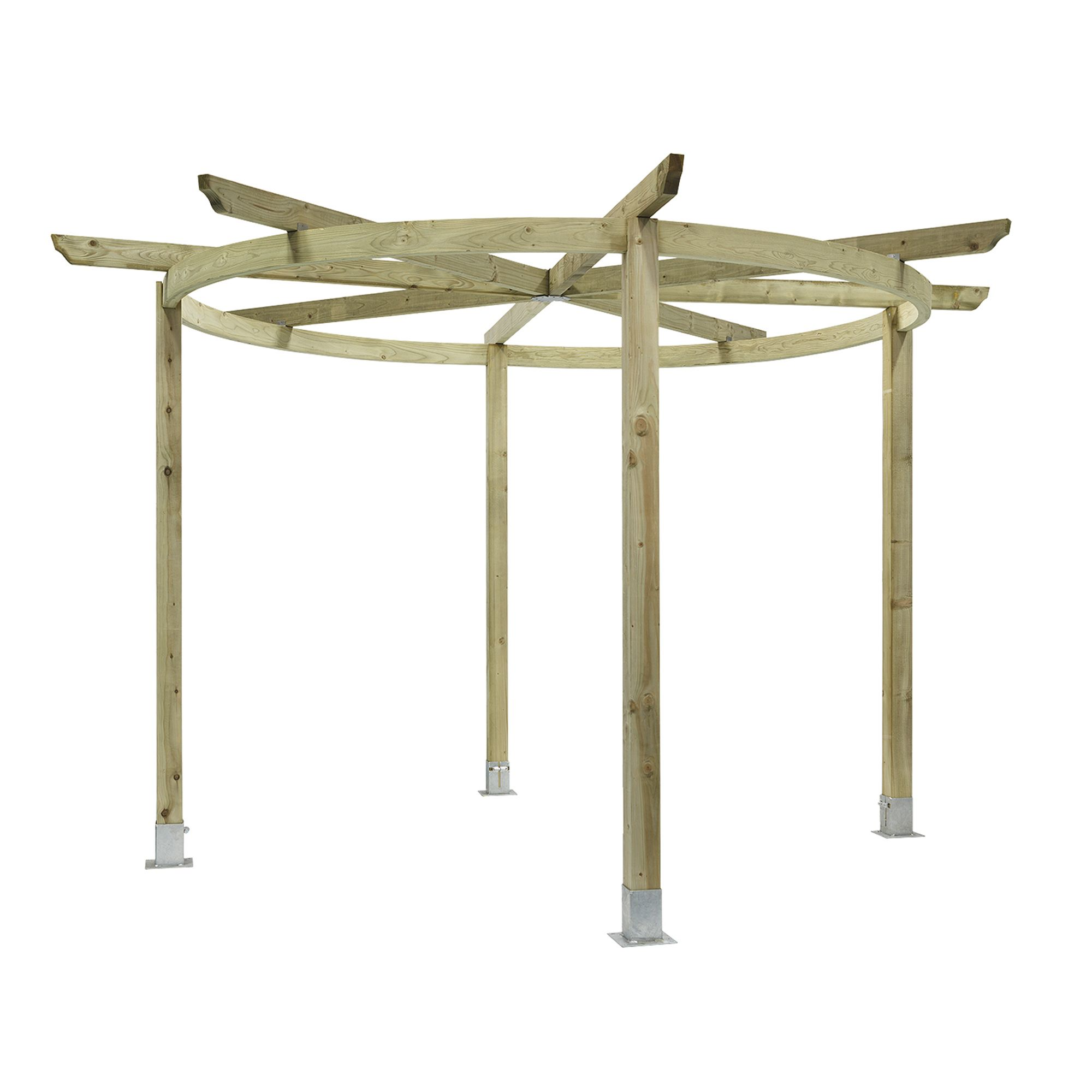 Chillington Pergola - Includes spikes for soft ground at Tesco Direct