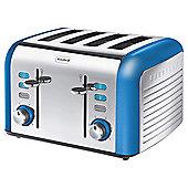 Breville Opula VTT337 4 Slice Toaster - Topaz Blue