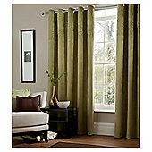 "Catherine Lansfield Swirl Lined Eyelet Curtains W167xL137cm (66x54""), Green"