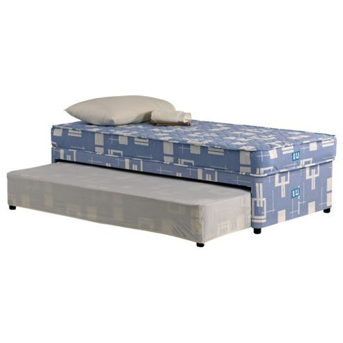 Buy tesco essentials single guest bed divan bed low for Low single divan bed