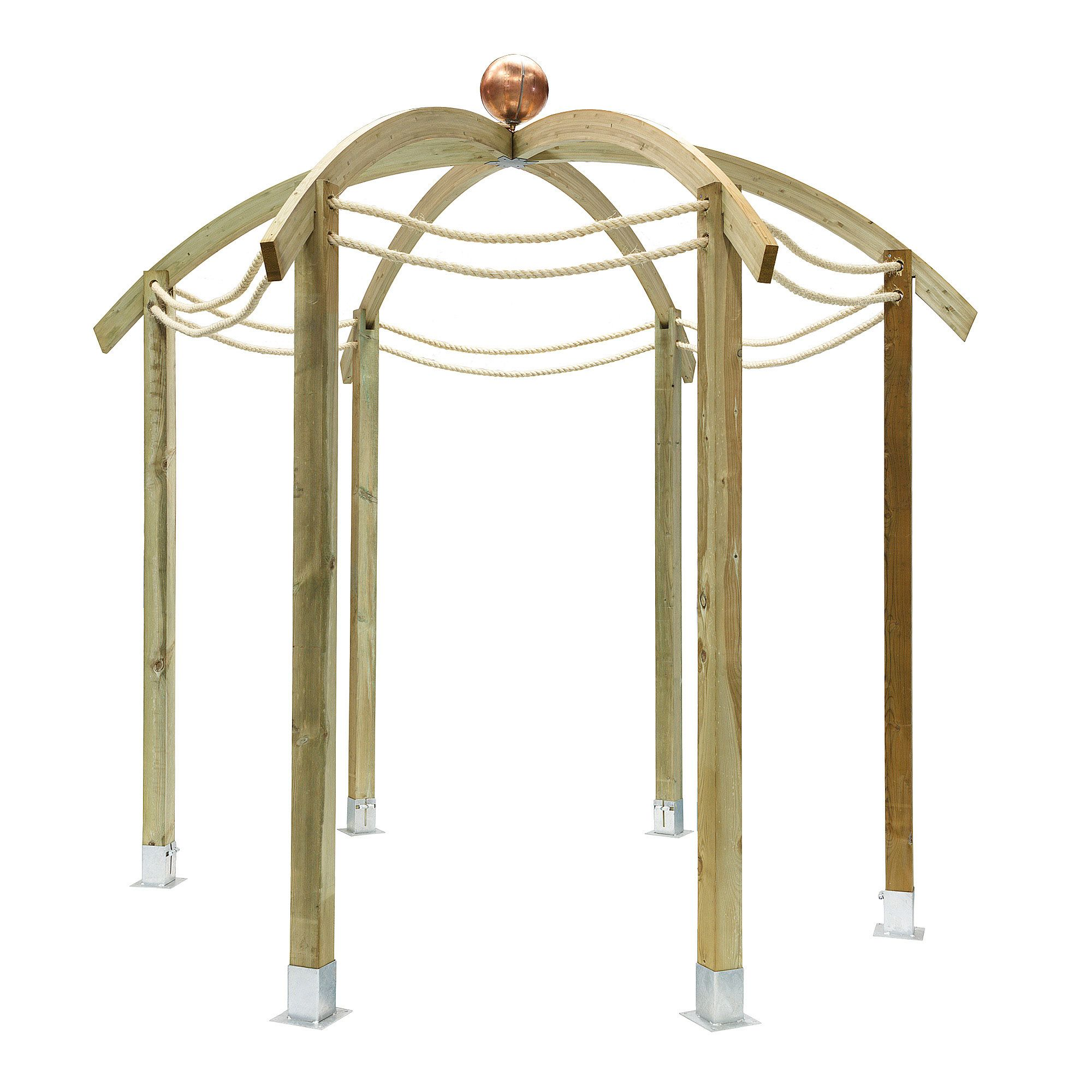 Bickington Domed Pergola - includes 6 bags of Metcrete at Tesco Direct