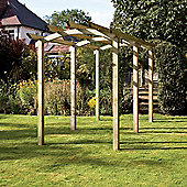 Brook Walk Pergola - Includes Metcrete for fixing posts into the ground