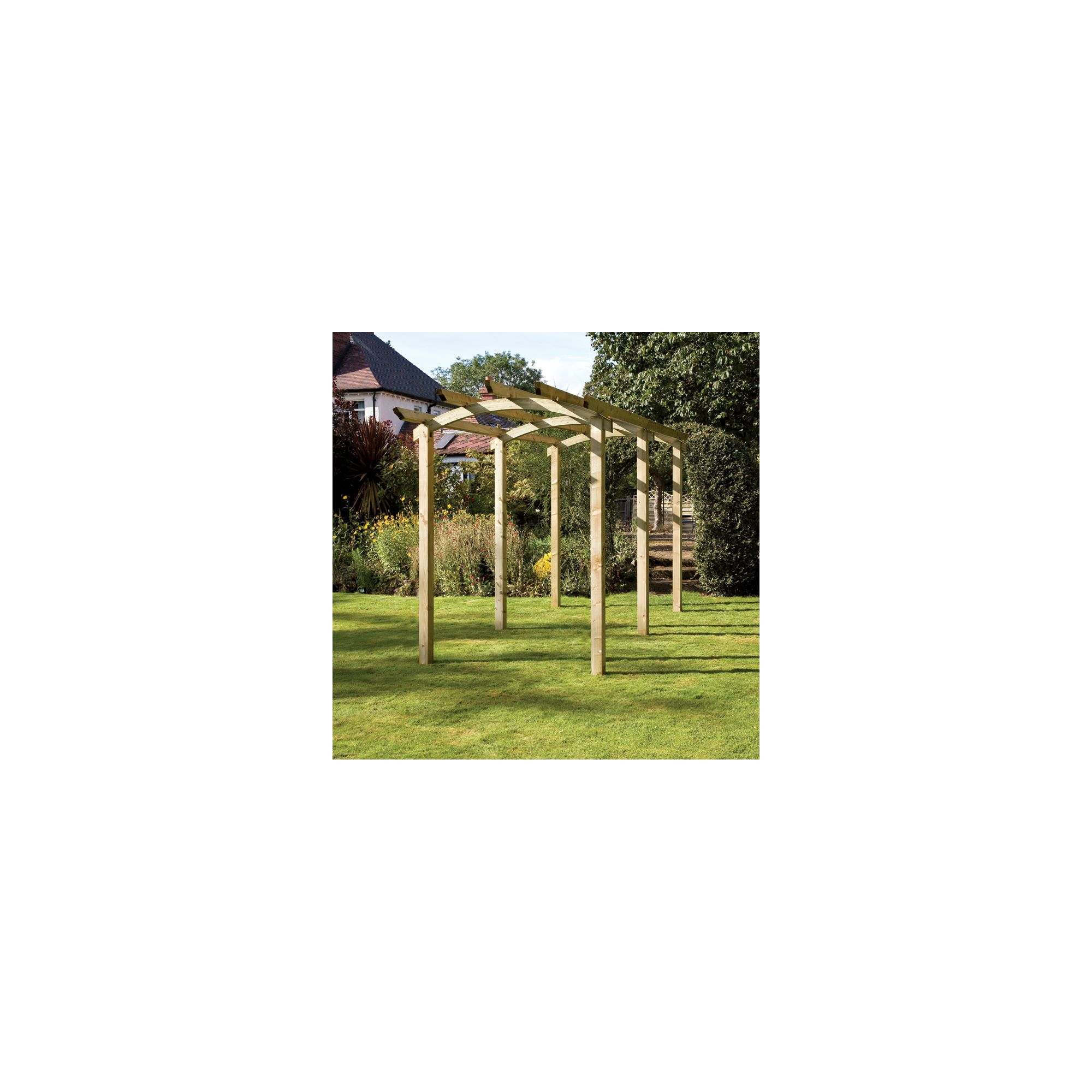 Brook Walk Pergola - Includes 6 bags of Metcrete for fixing posts into the ground at Tesco Direct