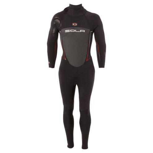 Sola Core X 5/3 Men's Wetsuit Black/Red Size 42
