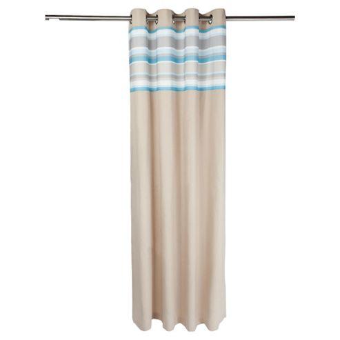 Brighton Stripe Eyelet Curtains W163xL183cm (64x72