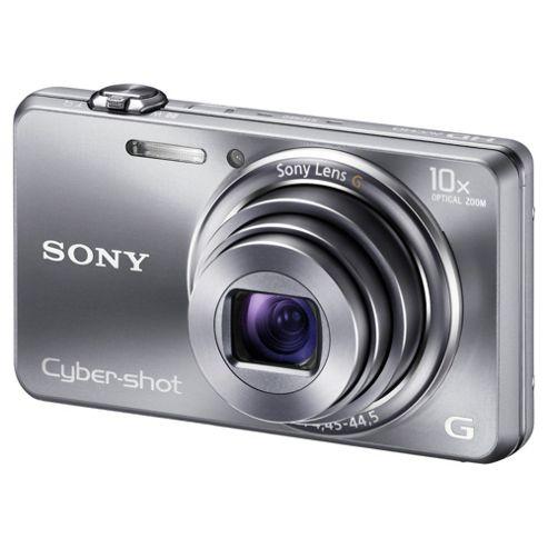 Sony Cyber-Shot DSC-WX100 Digital Camera, Silver, 18.2MP, 10x Optical Zoom, 2.7 inch LCD Screen